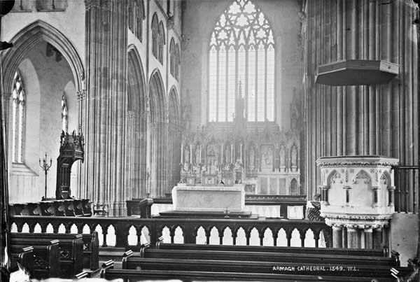 The Crossing as completed by McCarthy with Caen stone pulpit.