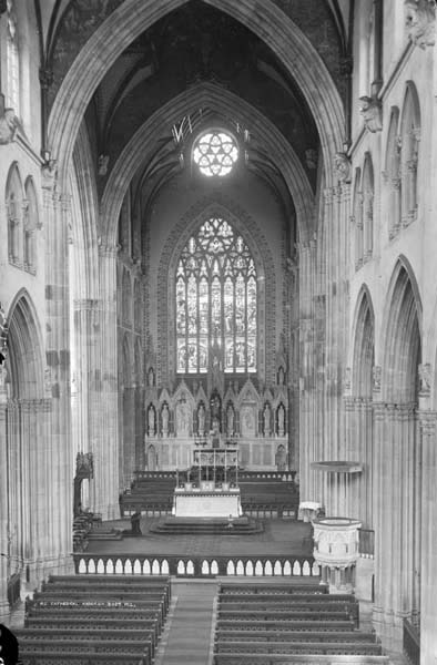Nave looking East as it appeared upon the appointment of Cardinal Logue.