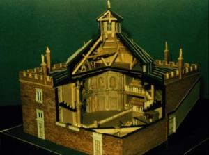 Model of the Cockpit-in-Court as remodelled by Inigo Jones.