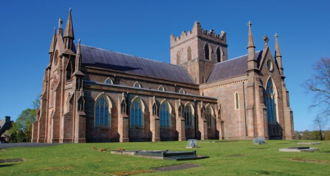 St Patrick's (CoI) Cathedral, Armagh as restored by Cottingham 1834-1840.