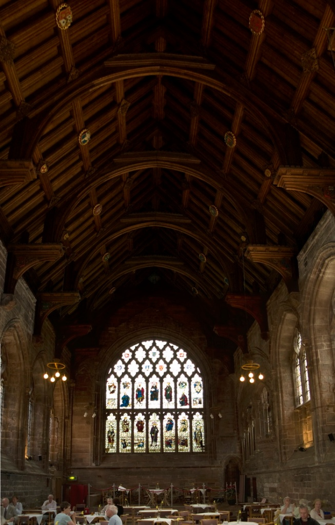 The Refectory of Chester Cathedral, similar in form to that of Blackfriars in London.
