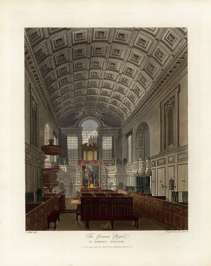 The German Chapel Royal in 1819.