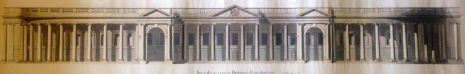 Richard Lucius Louch, Proposed South Front of Bank of Ireland showing Pearce's work substantially unaltered.