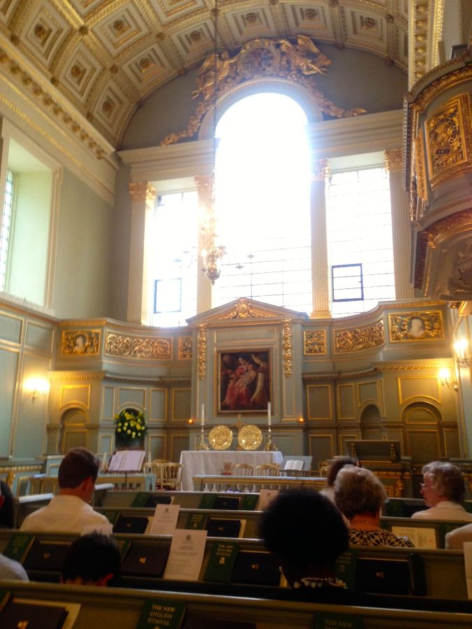 The Queen's Chapel prior to a Summer Eucharist in 2014