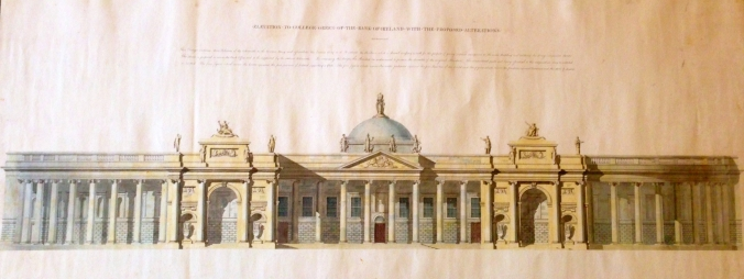 Richard Morrison, proposal for the South Front of the Bank of Ireland. (Irish Architectural Archive)