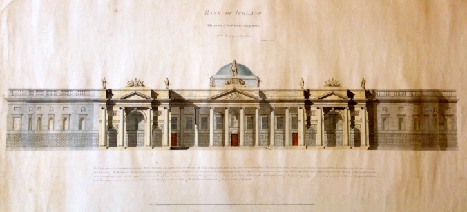 Richard Morrison, proposal for the South Front of the Bank of Ireland.
