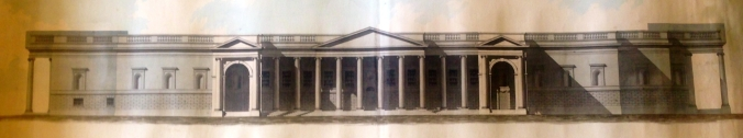 Joseph Woods, Proposal for the South Front of the Bank of Ireland. (Irish Architectural Archive)