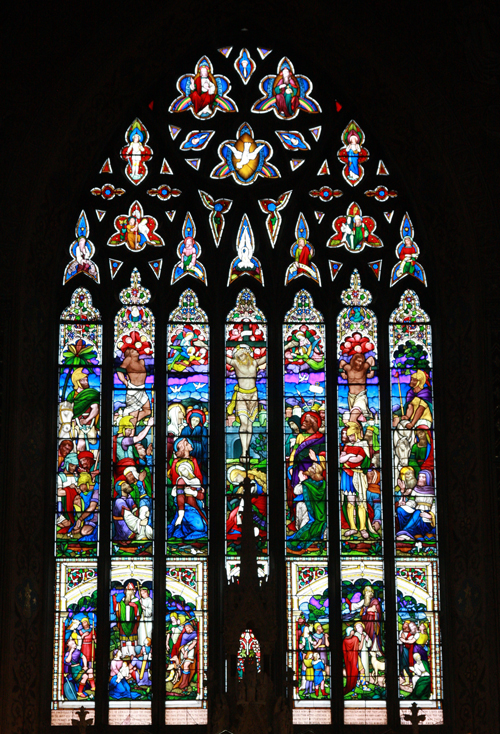 The Great East Window, Earley & Powell, 1879 commissioned by Archbishop McGettigan.