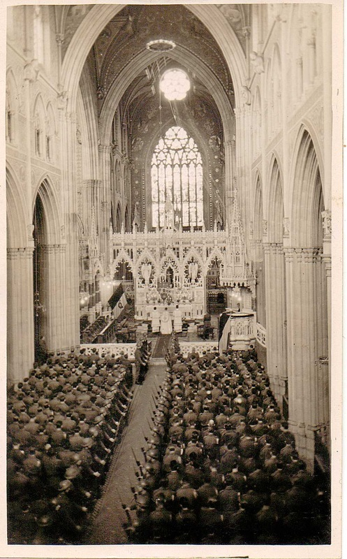The Armistice Service held in May 1945 for members of the 5th Belgian brigade exiled in Ireland.