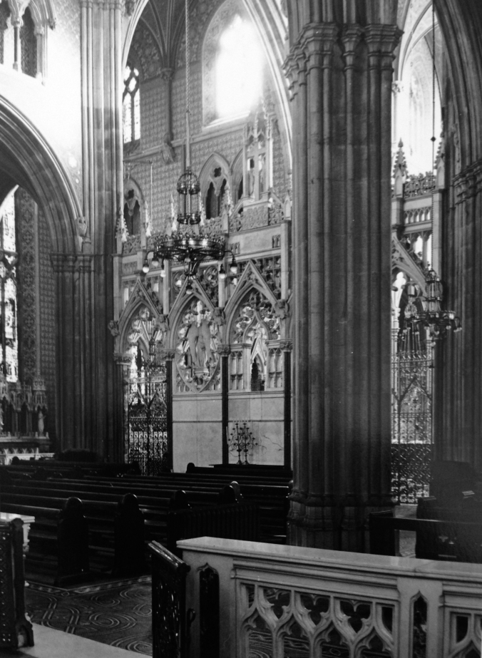 Rear of the Rood Screen looking into the Crossing. (Irish Architectural Archive)