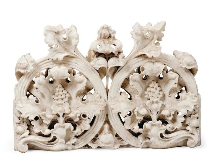 Fragment of the carved cresting of the Rood Screen sold at Christie's from the collection of Interior designer Tessa Kennedy in 2014.